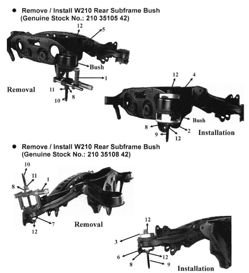 Mercedes Benz W210 Rear Suspension Subframe Bushing Bush