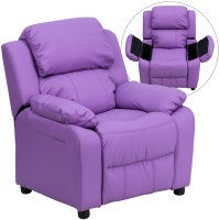 Children's Recliner with Cup Holder - Leather, Vinyl ...