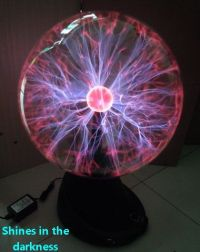 "16"" Plasma Ball Sphere Globe Lightning Lamp Light Fixtures"
