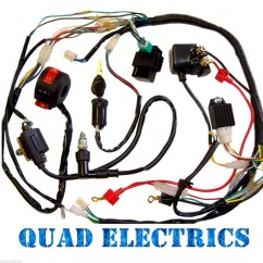 125cc Quad Bike Wiring Diagram Homeline Breaker Box Harness Cdi Coil Kill Key Switch 50cc 110cc