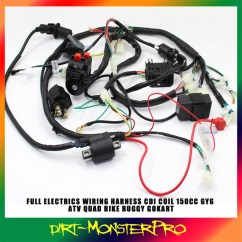 Gy6 Starter Relay Wiring 2001 Jeep Wrangler Diagram Buggy Harness Loom 150cc Chinese Electric Start