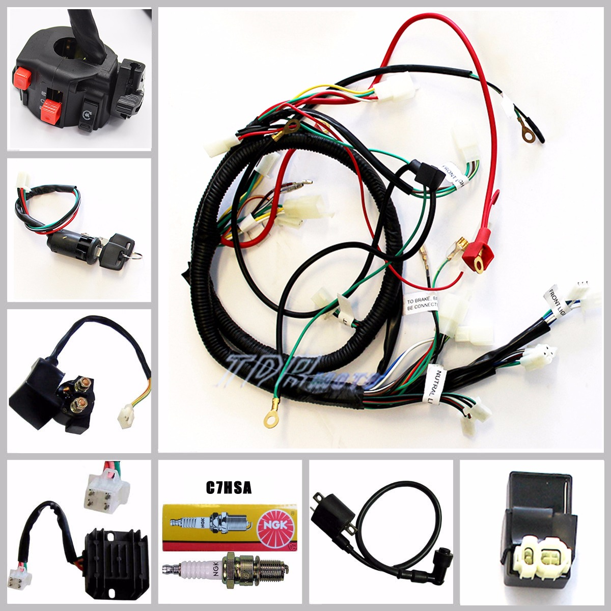 gy6 starter relay wiring prs diagram push pull 150cc carby electrics harness quad atv buggy