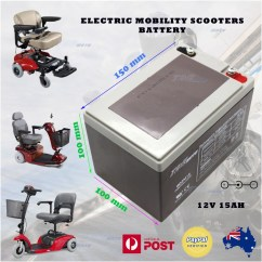 Wheel Chair Battery Baby Folding Agm 12v 15ah Deep Cycle Electric Mobility Scooter