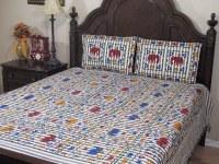 Elephant Cotton Bedding Pillowcases Set 3P Print Indian ...