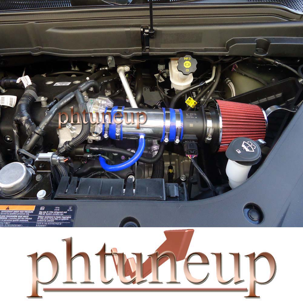 hight resolution of details about blue red 2007 2011 gmc acadia chevy traverse 3 6 3 6l v6 ram air intake kit