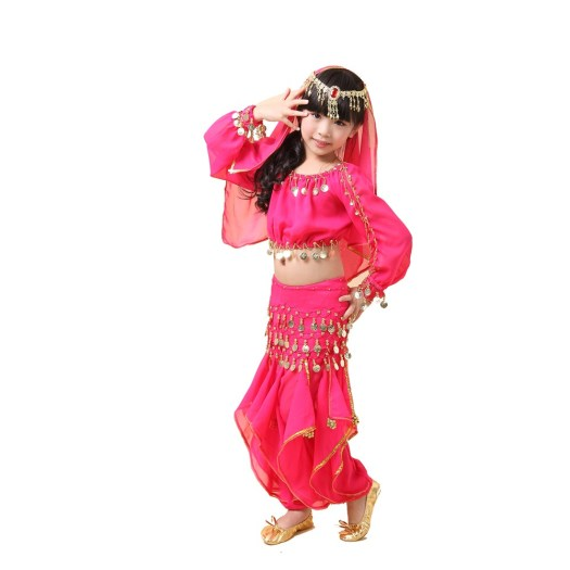 Kids Girls Child Belly Dance Outfit Costume Set Top Pants ...