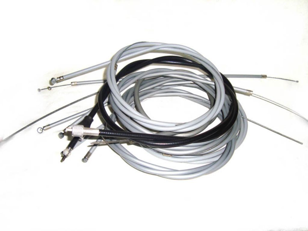 Lambretta Scooter Complete Control Cable Kit Value Pack
