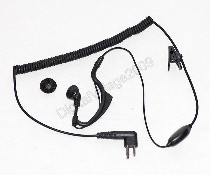 Lapel Tie Clip On Microphone Mic w/Earpiece for Motorola