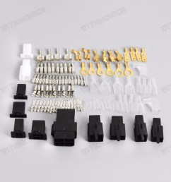details about universal motorcycle electrical wiring harness repair connector kit plugs bullet [ 1600 x 1600 Pixel ]