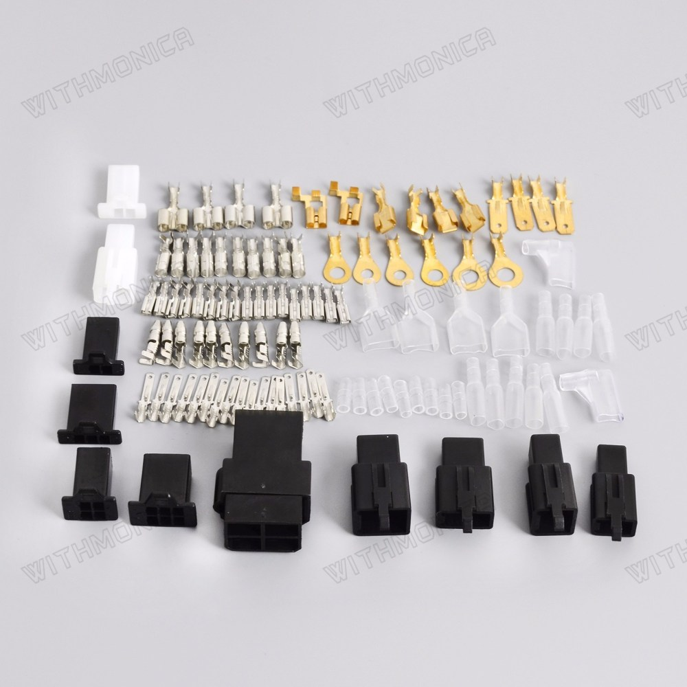 medium resolution of details about universal motorcycle electrical wiring harness repair connector kit plugs bullet