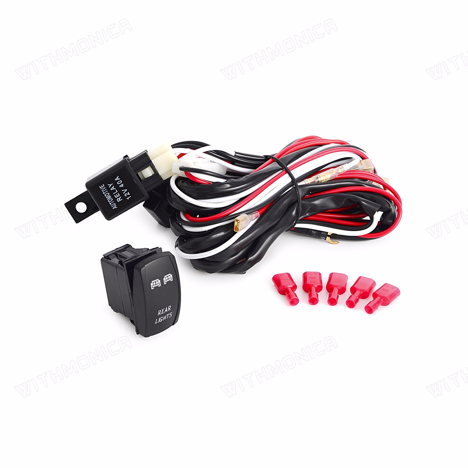 hight resolution of details about 2m wiring harness blue rear led light bar laser rocker switch 12v dc 5pin utv