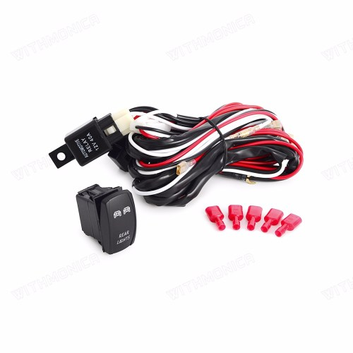 small resolution of details about 2m wiring harness blue rear led light bar laser rocker switch 12v dc 5pin utv