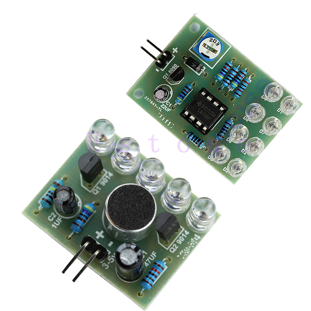 hight resolution of blue led sound control melody lamp blue lm358 breathing light diy kits