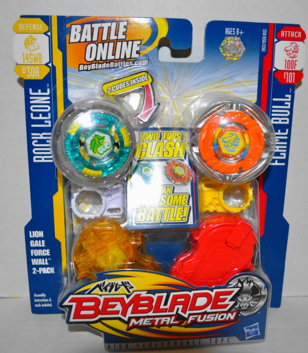Beyblade Metal Fusion Rock Leone Flame Bull Toupies Tops