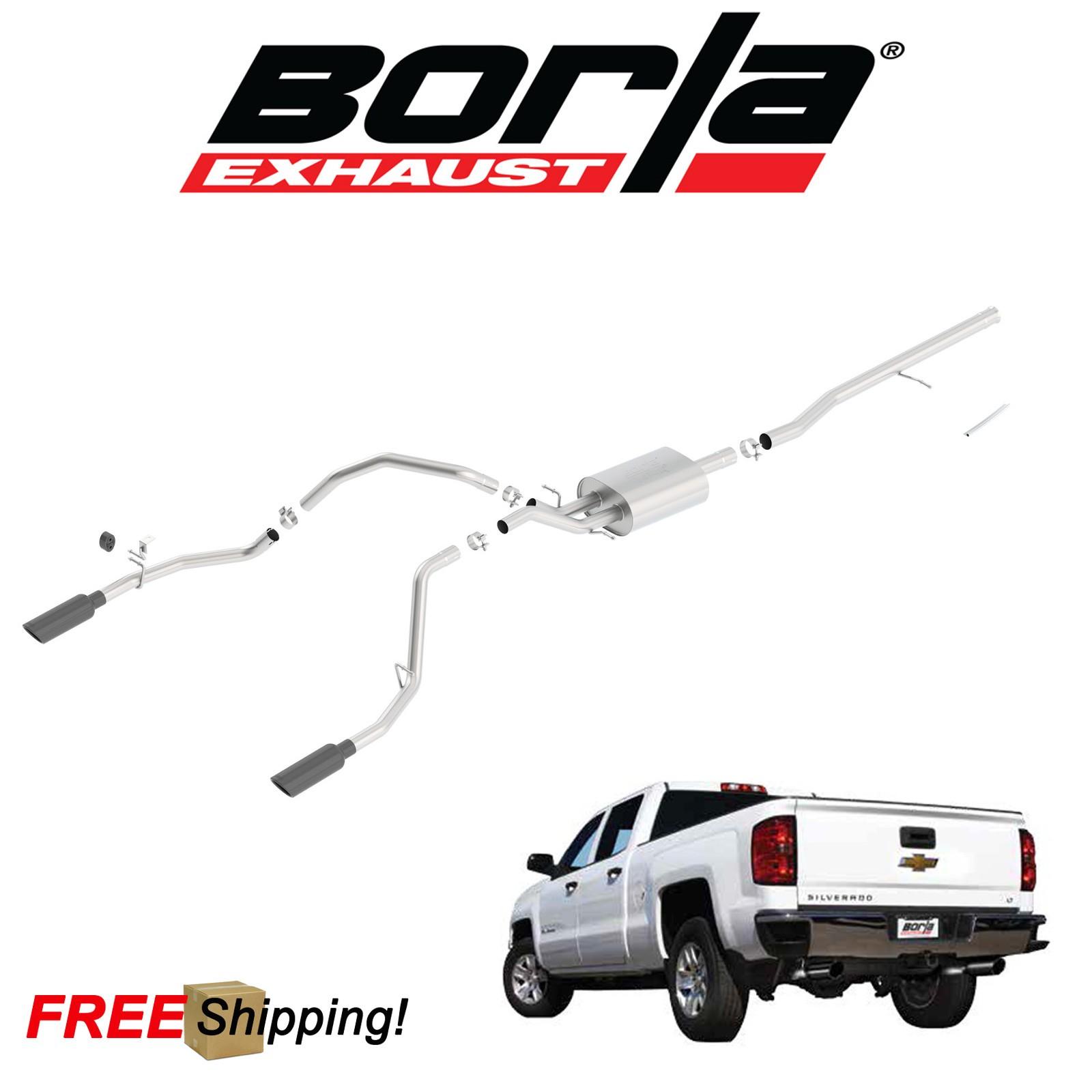 details about borla s type cat back performance dual exhaust 2014 2018 silverado 1500 5 3l v8