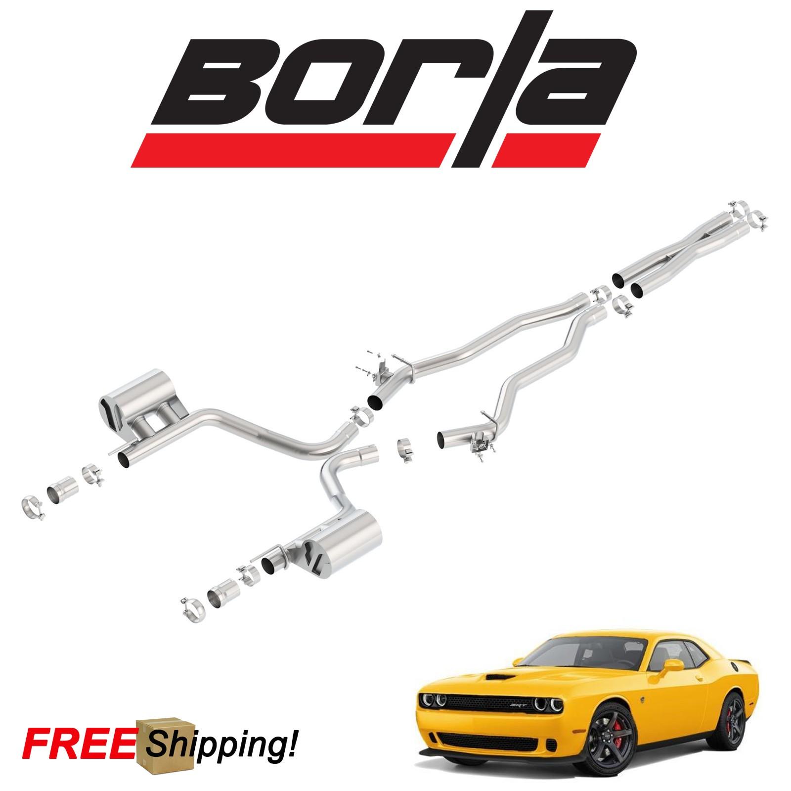 details about borla atak cat back performance dual exhaust 2015 2018 challenger srt 6 4l v8