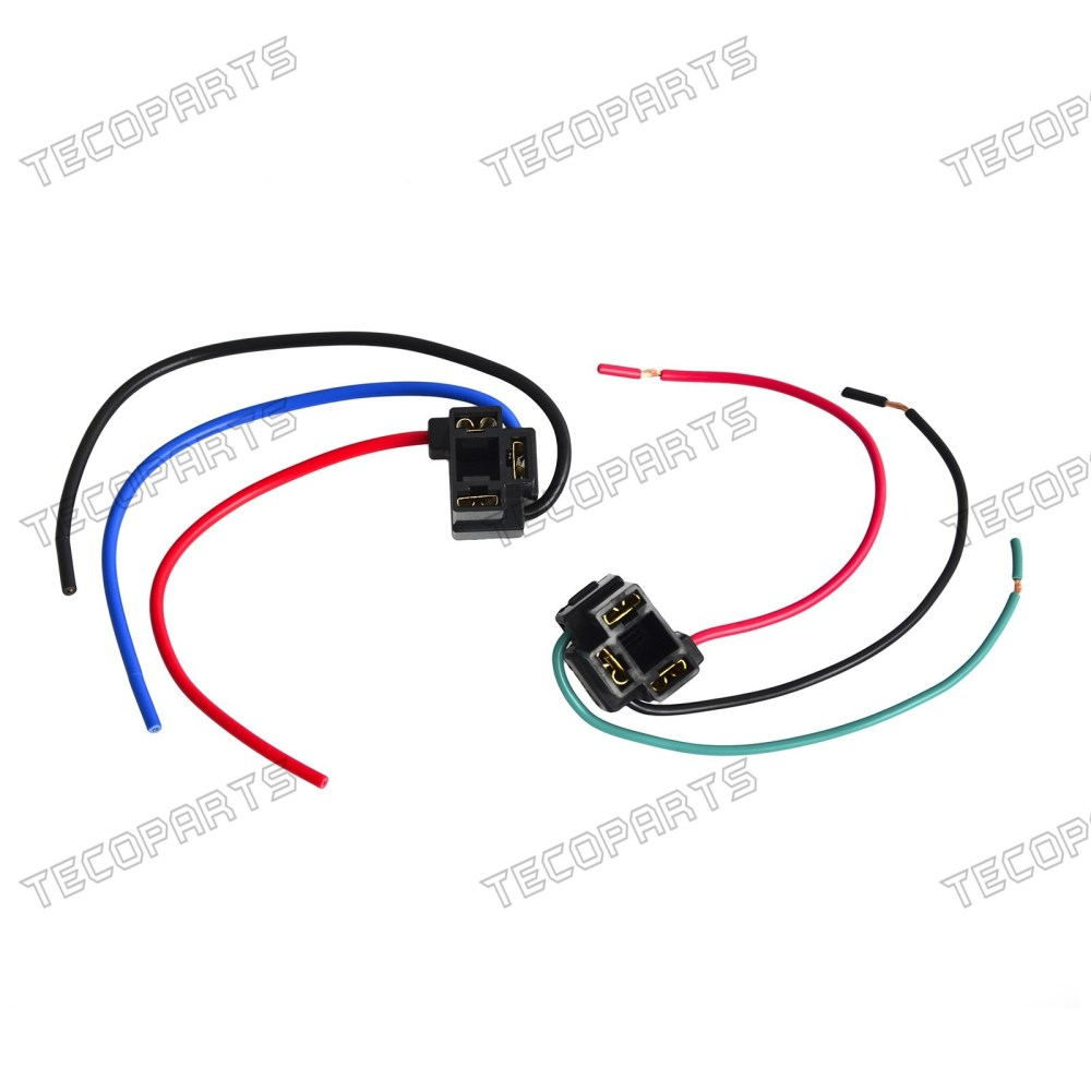 medium resolution of details about a pair h4 headlight bulb female wire harness connector wiring plug socket new