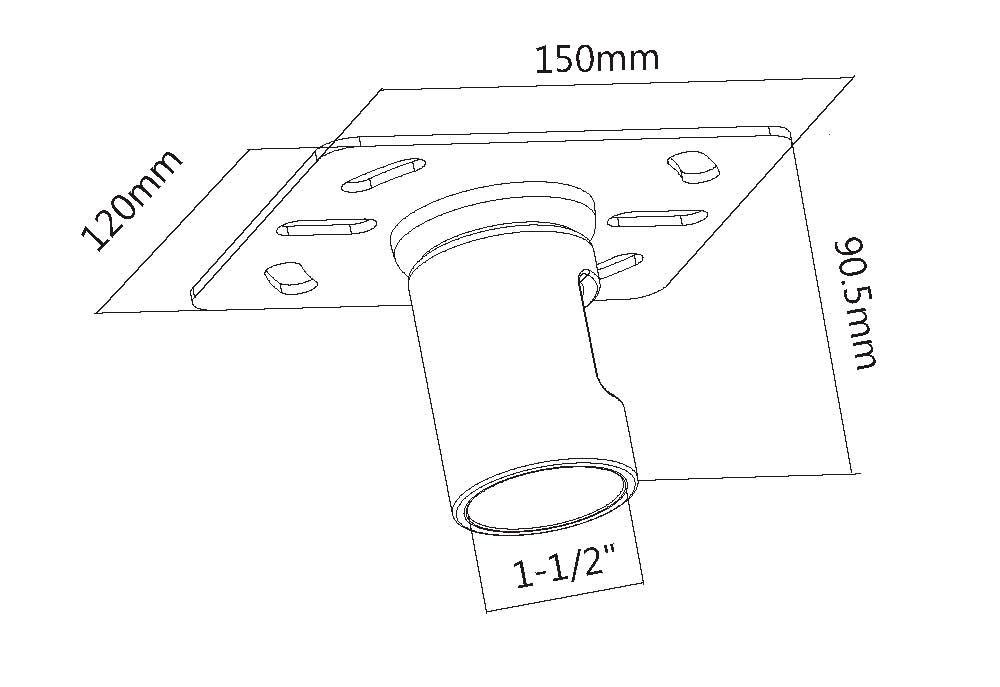 Ceiling Plate for LED Plasma TV Ceiling Mount Accessory