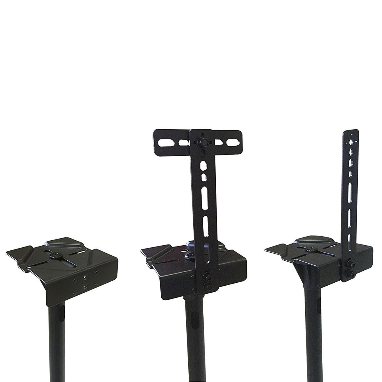 2 height adjust speaker stand floor mount surround sound satellite