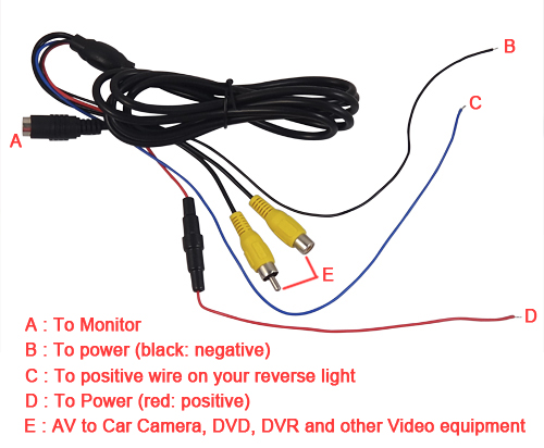 Wiring Diagram For Car Reversing Camera