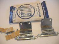 "Vintage 1950s CHROME Cabinet HINGES For 3/4"" Flush Doors ..."