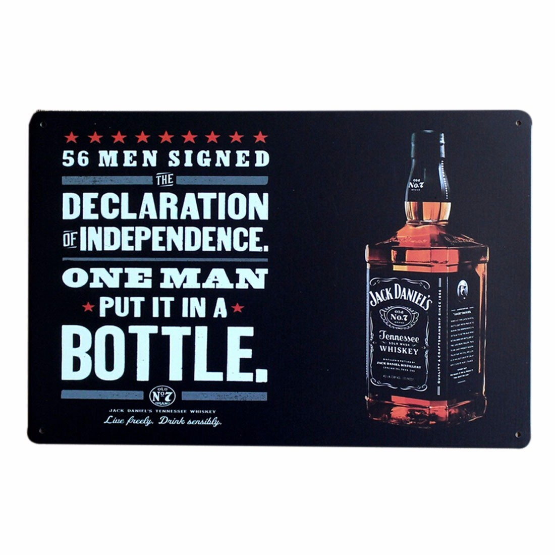 Whisky Jack Daniels Bar Pub Restaurant Metal Poster Tin