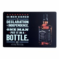 Whisky Jack Daniels Bar Pub Restaurant Metal Poster Tin