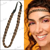 Synthetic Braided Braids Plaited Plait Elastic Hair Head