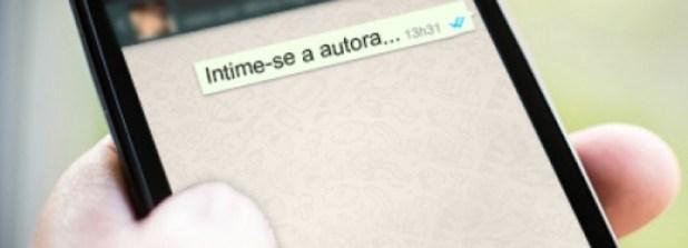 Intimao pelo WhatsApp