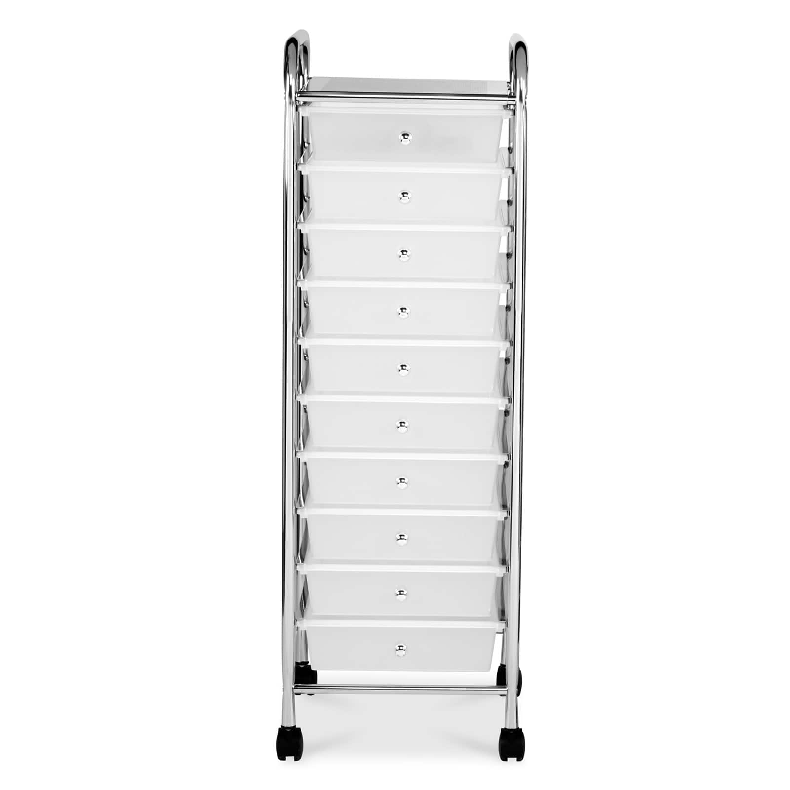 clear 10 drawer rolling