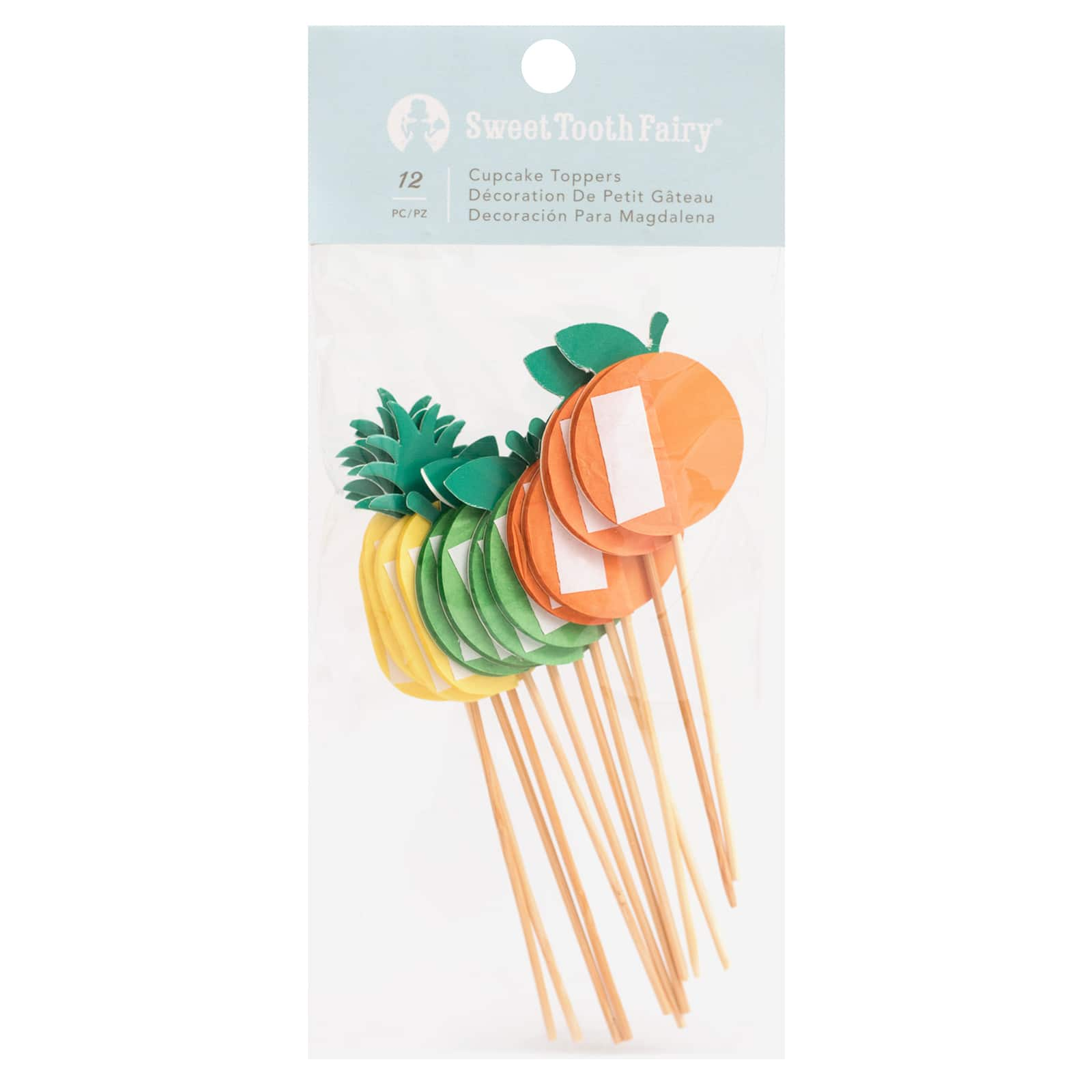 sweet tooth fairy fruity cupcake toppers 12ct