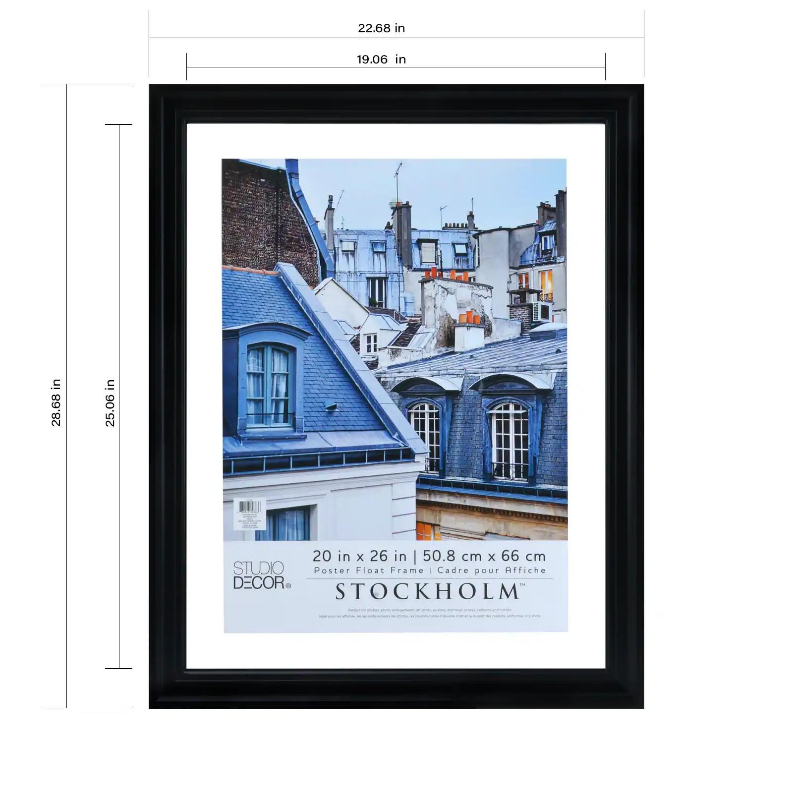 black 20 x 26 float poster frame stockholm by studio decor