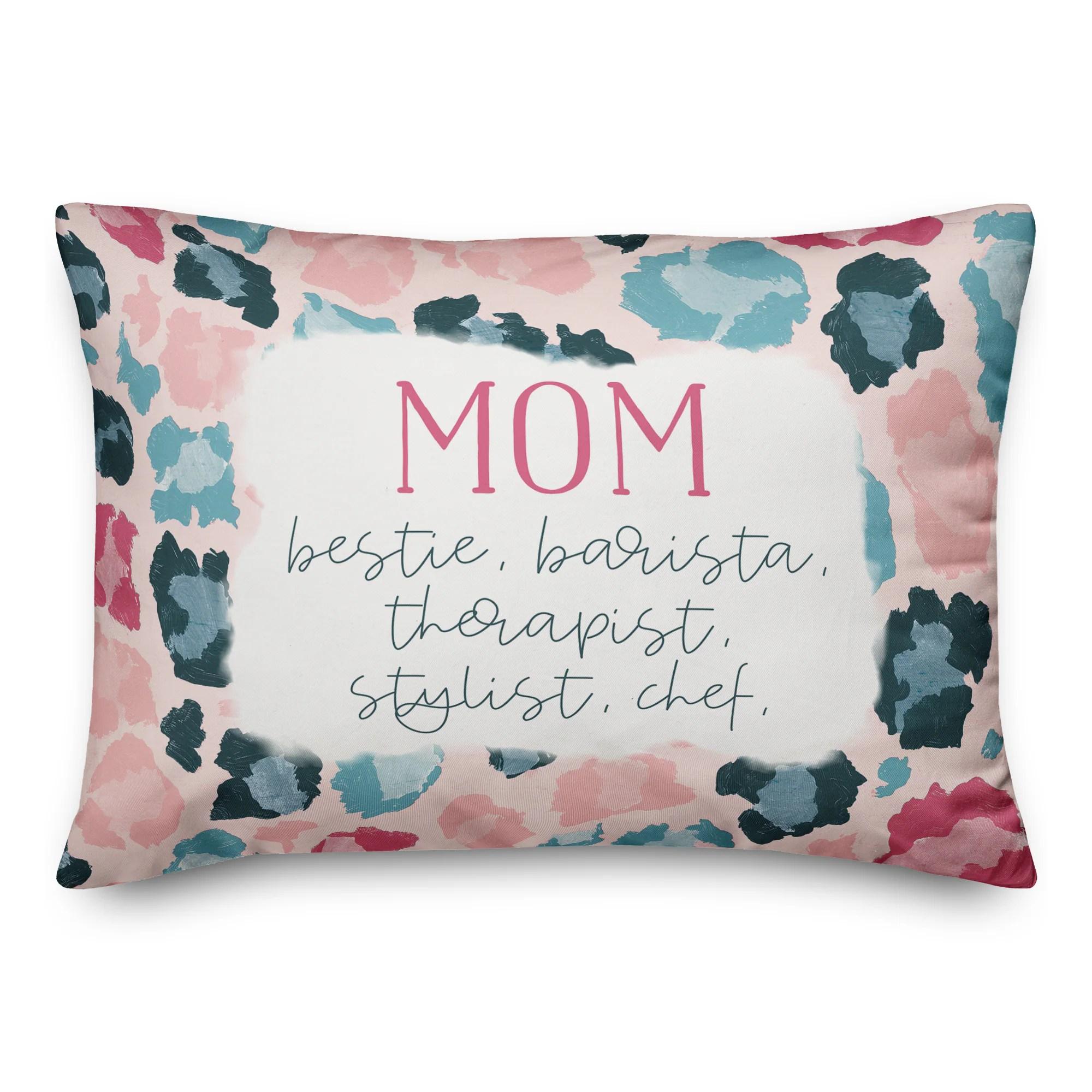 cheetah print mom throw pillow