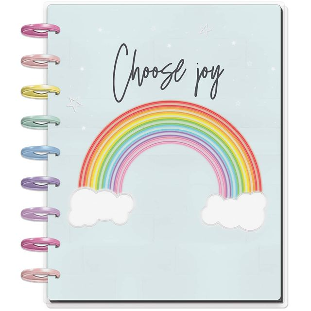 Choose Joy or Sassy Neon Happy Planner available at Michaels Stores -- affiliate link