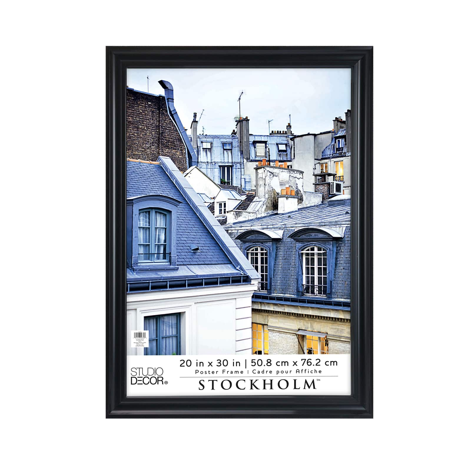 black poster frame stockholm by studio decor