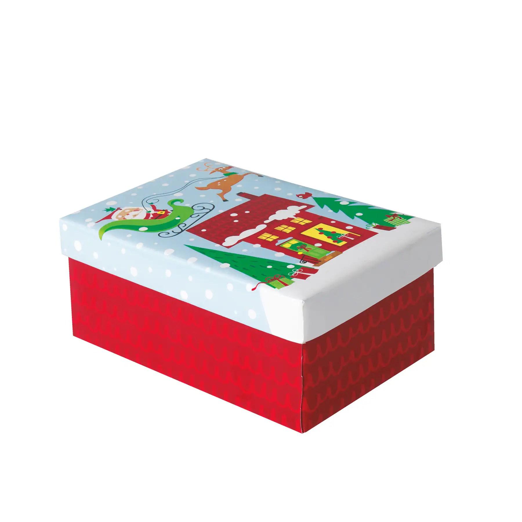 Christmas Present Box Colorful Santa Christmas Gift Supplies
