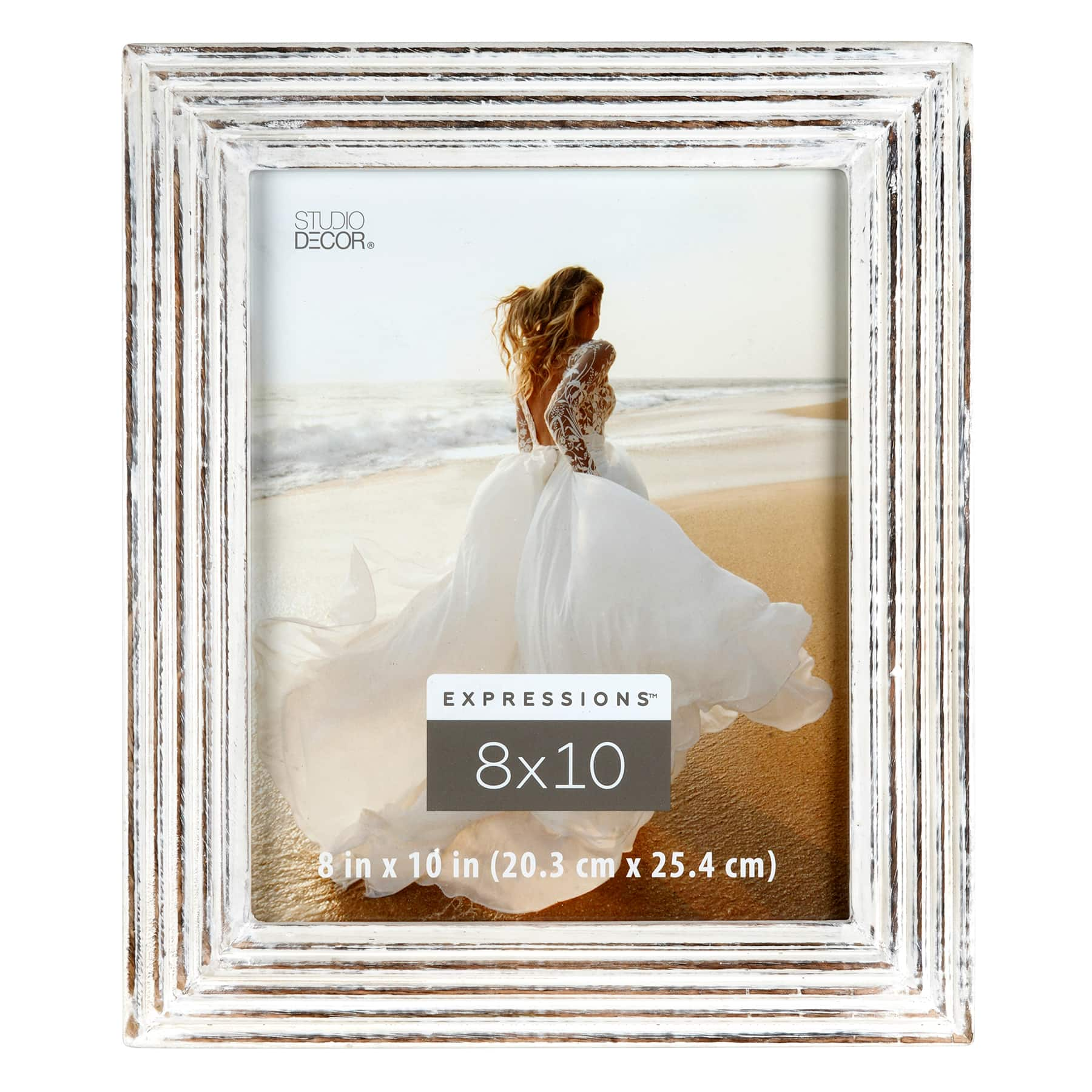 white natural wooden 8 x 10 frame expressions by studio decor