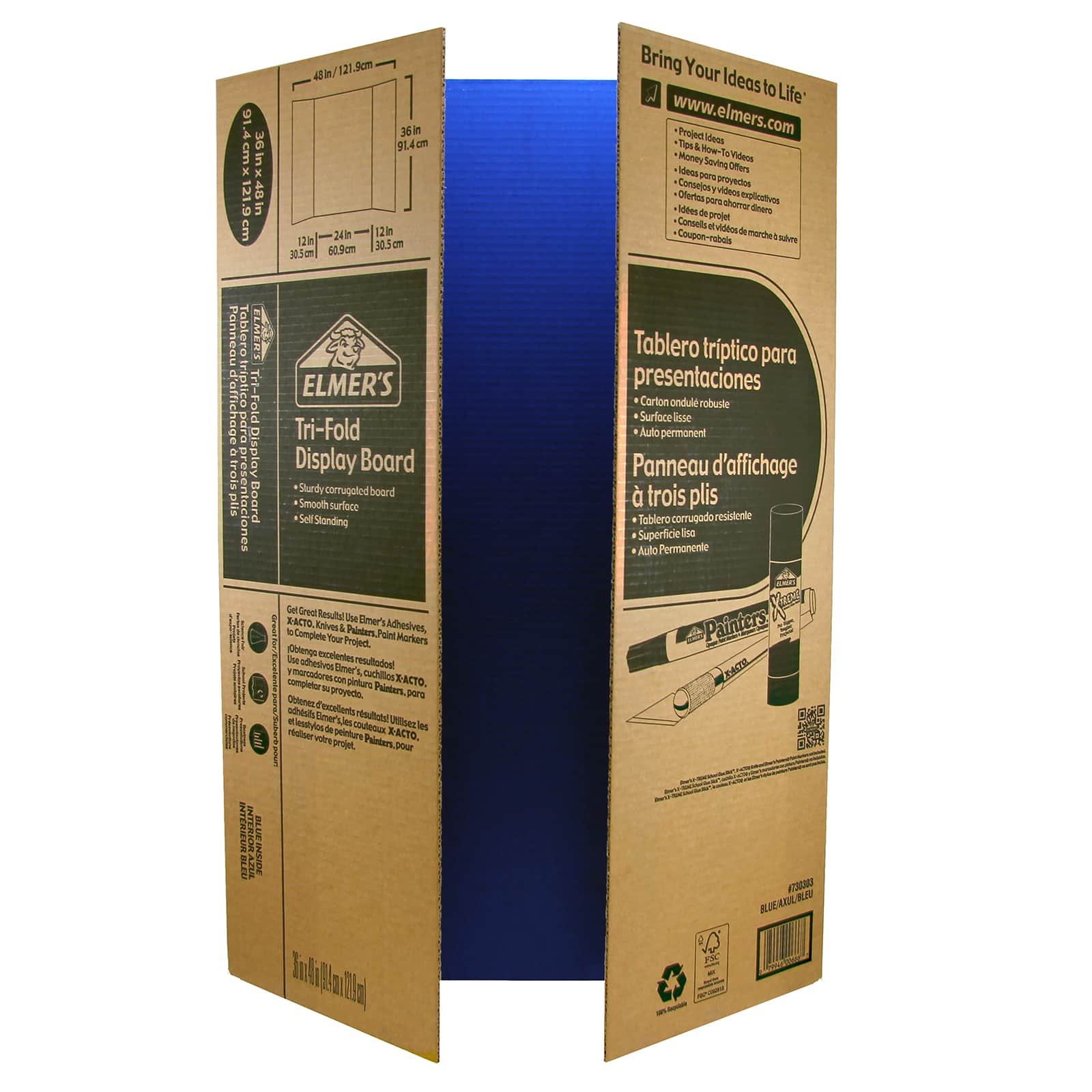 Elmer's® Corrugated Tri Fold Display Board