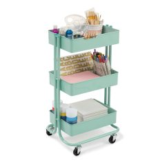 Kitchen Rolling Cart Blue Color Cabinets Find The Mint Lexington 3 Tier By Recollections At Michaels