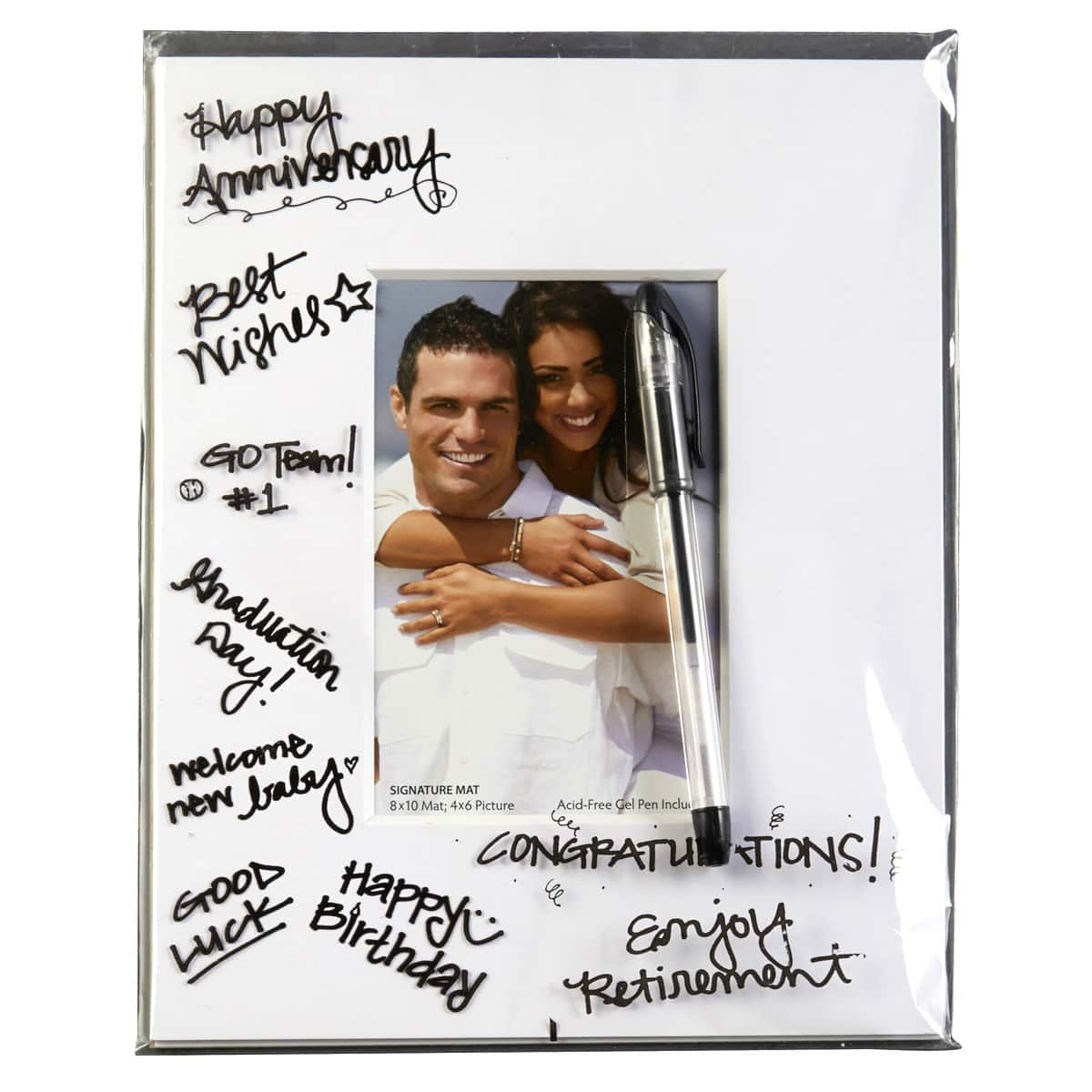 white signature mat by