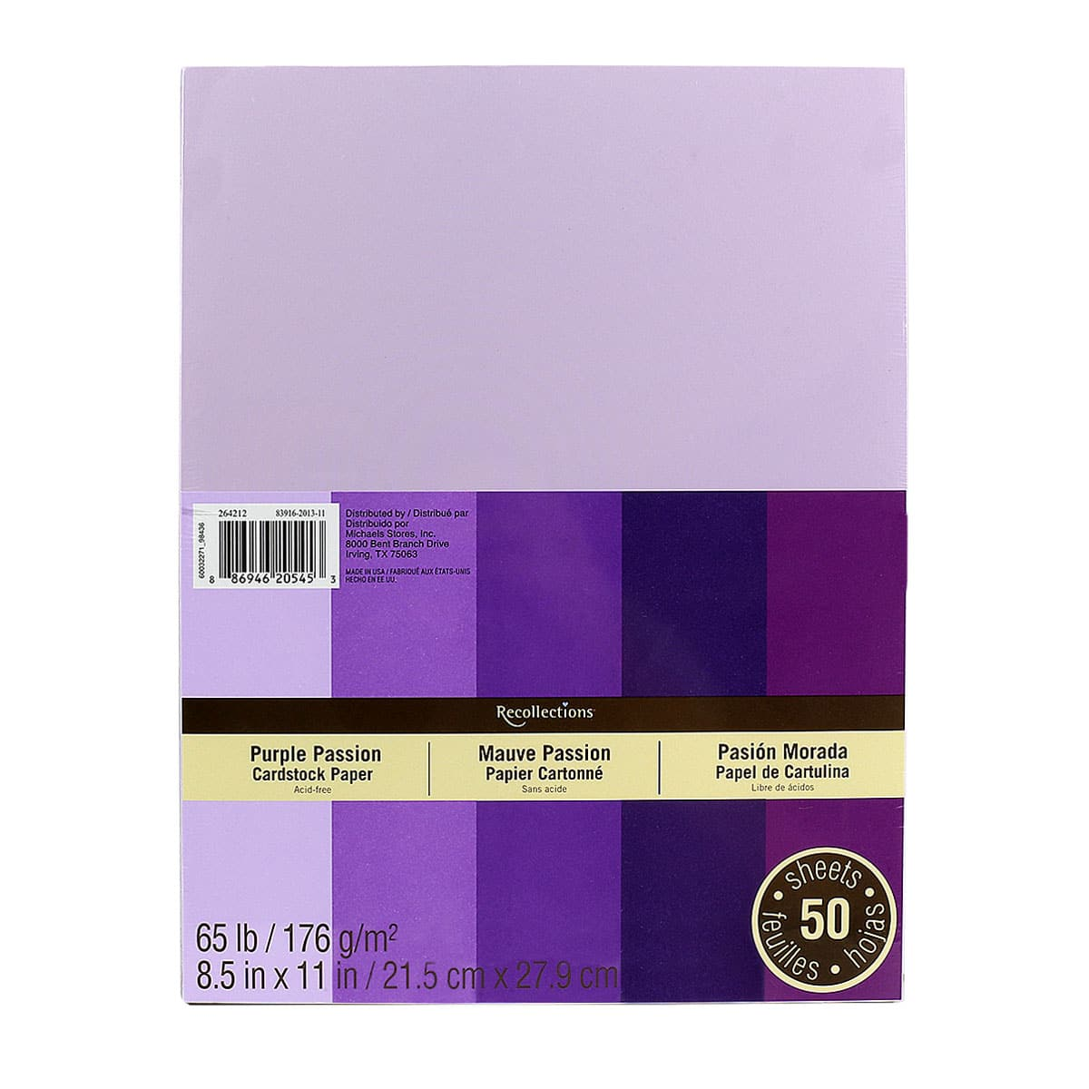 purple passion cardstock paper