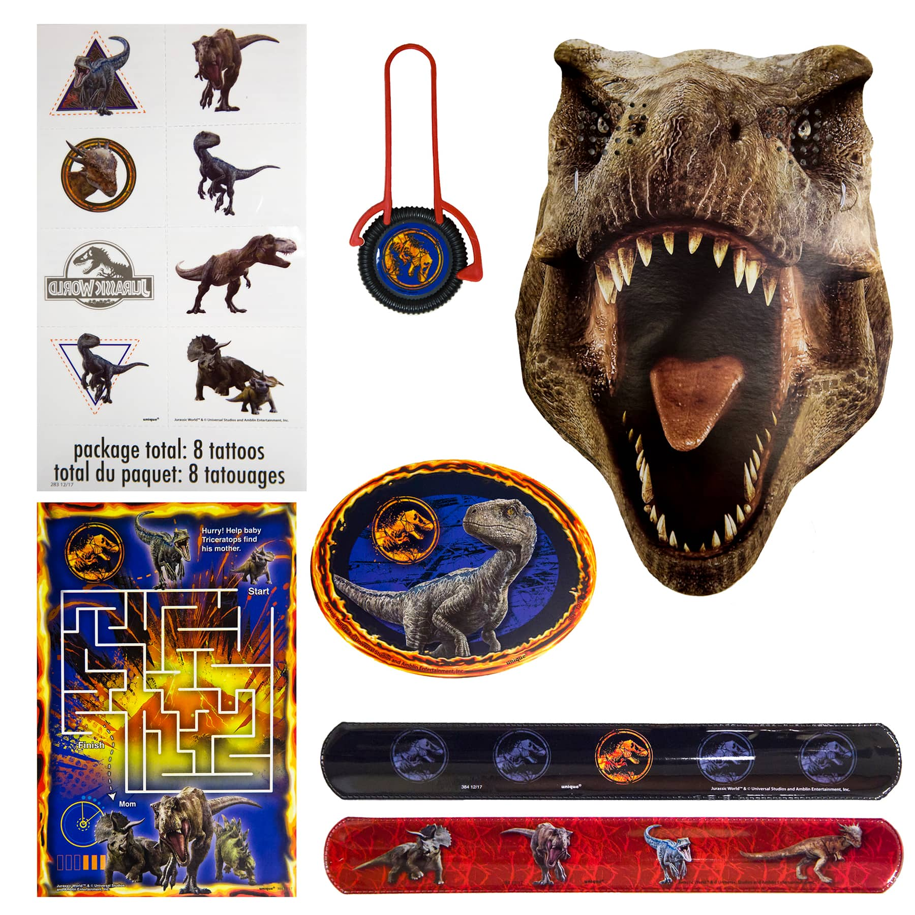 jurassic world party favors 48pc