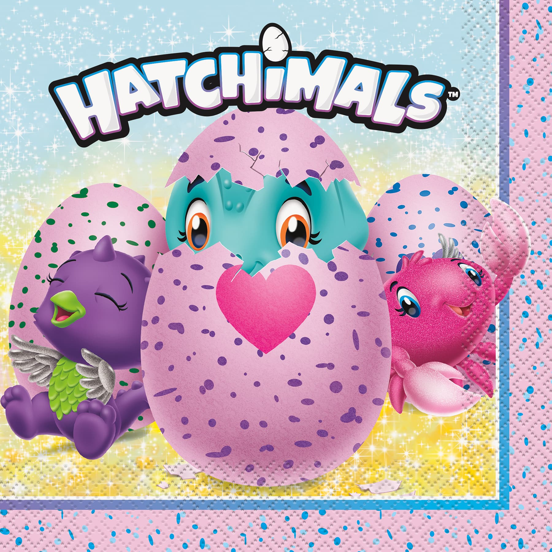 hatchimals luncheon napkins 16ct
