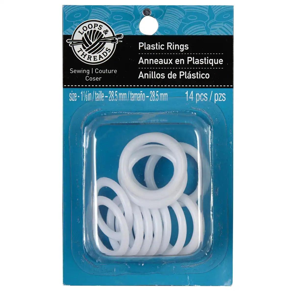 loops threads plastic rings