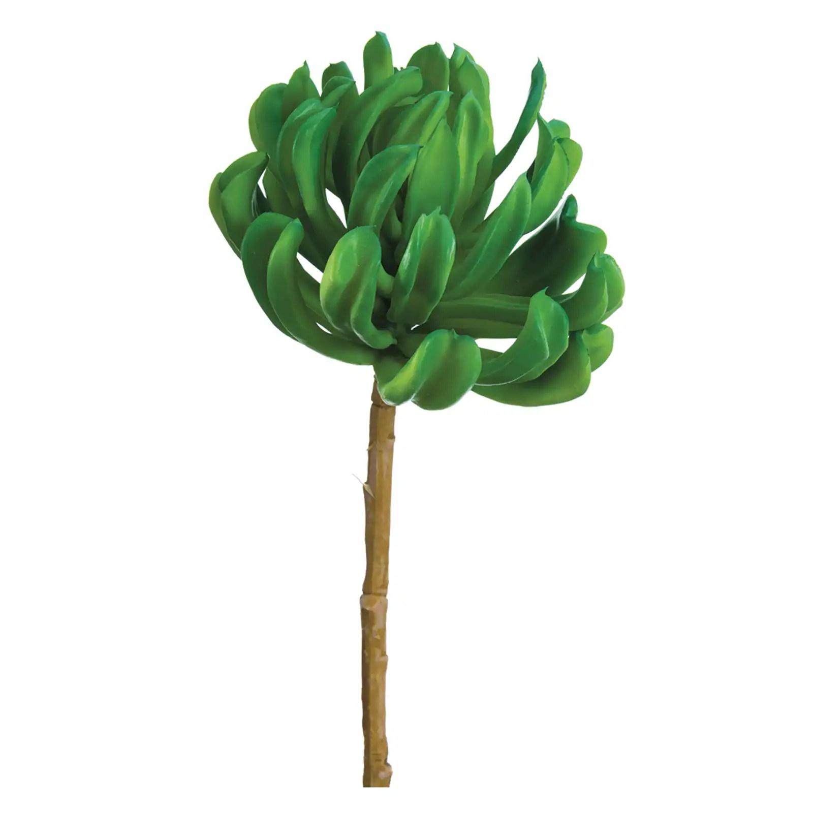 """14.5"""""""" Soft Plastic Aeonium Stem Green"""