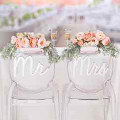 Mr And Mrs Chair Signs Hi Boy Beach With Canopy Shop For The David Tutera Silver At Michaels Img