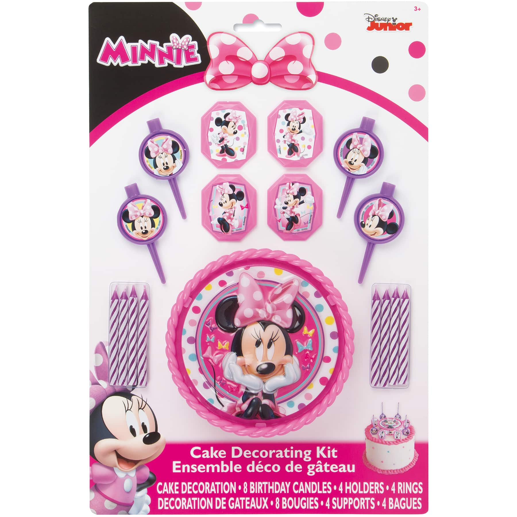 Minnie Mouse Birthday Cake Decorating Kit Minnie Mouse Party Supplies