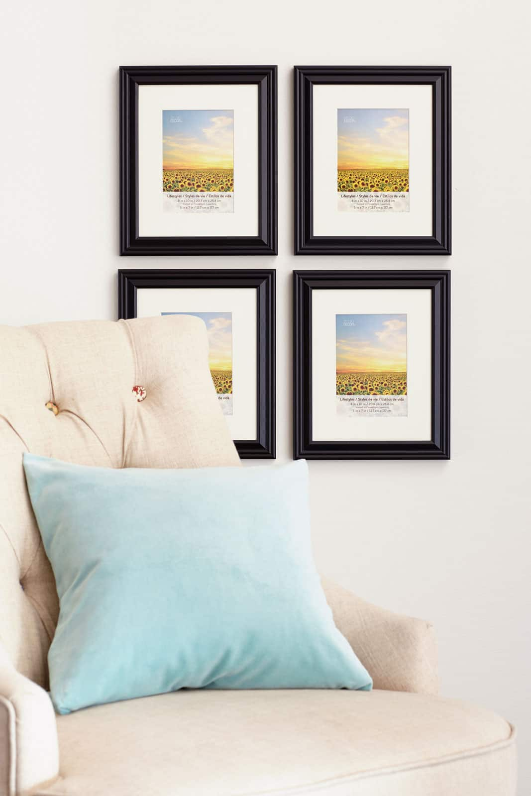 8 packs 4 ct 32 total black 5 x 7 frame with mat lifestyles by studio decor