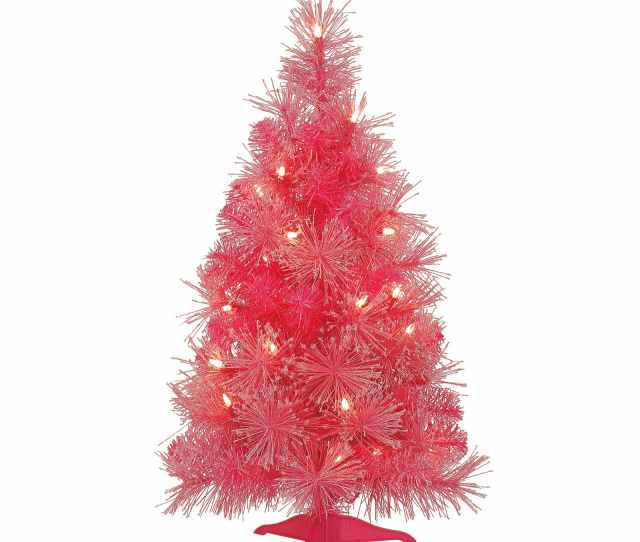 Ft Pre Lit Pink Iridescent Artificial Christmas Tree By Ashland