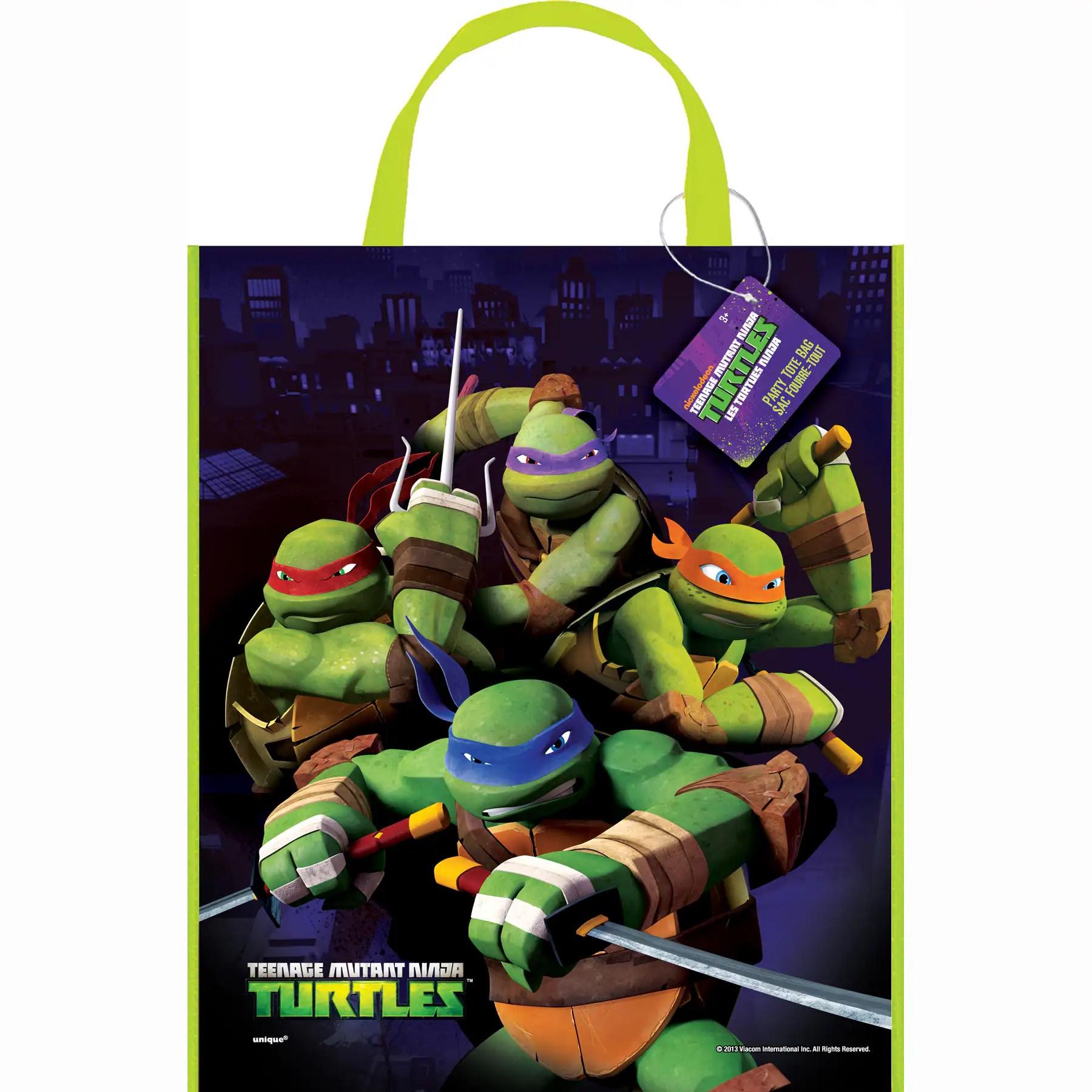 large plastic teenage mutant ninja turtles favor bag 13 x 11